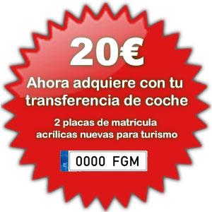 Matriculacion gratis con su transferencia de vehiculos