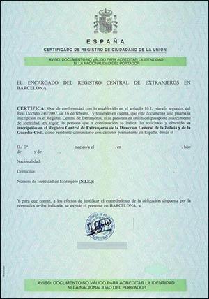 Registro ciudadano UE